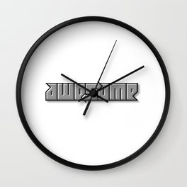 AWESOME ambigram Wall Clock