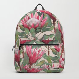 Painted King Proteas on cream Backpack