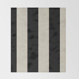 vintage black stripes Throw Blanket