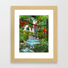 Enchanted Jungle Framed Art Print