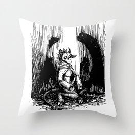 Silent Night Horror Throw Pillow