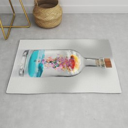 Electric Jellyfish Worlds in  a Bottle Rug