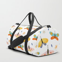 Colorful Decorated Butterfly Pattern Duffle Bag