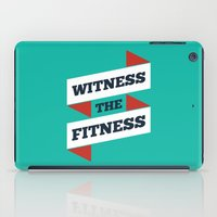 fitness iPad Cases featuring Lab No. 4 - Witness The Fitness Gym Motivational Quotes Poster by Lab No. 4