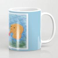 manatee Mugs featuring Manatee Love by pigknit