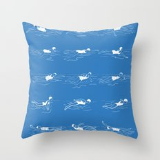 Different Strokes Throw Pillow