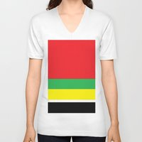 marley V-neck T-shirts featuring Marley bars by ivette mancilla