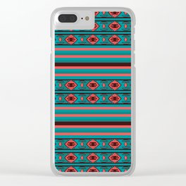Ethnic Bohemian Kilim Style Pattern 2 Clear iPhone Case