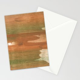 Brown green painting Stationery Cards
