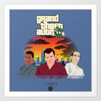 gta Art Prints featuring GTA 8.............BIT by A. Jones