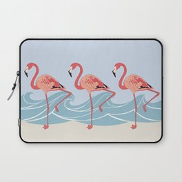 Seaside Flamingos Laptop Sleeve