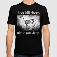 You Kill Them While You Sleep Black MEDIUM Mens Fitted Tee