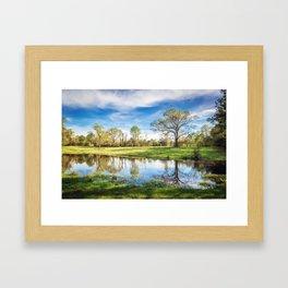 Country Pond Framed Art Print