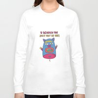 pig Long Sleeve T-shirts featuring pig by PINT GRAPHICS