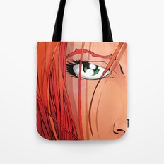 Red Face Tote Bag