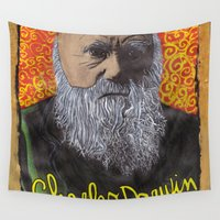 darwin Wall Tapestries featuring Charles Darwin by Ibbanez