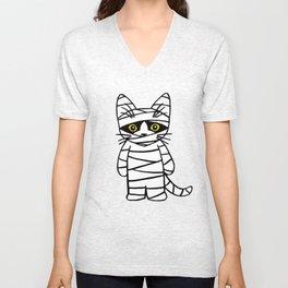 Mummy Cat  Unisex V-Neck