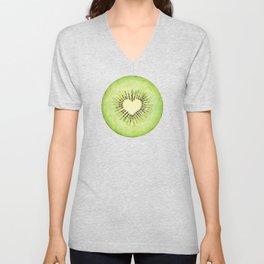 Kiwi illustration, green fruit Unisex V-Neck