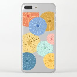Coloful Sea Urchins 2 Clear iPhone Case