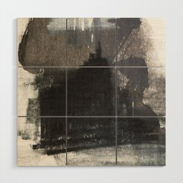 Abstract Texture, Black White & Grey Texture 1 Wood Wall Art