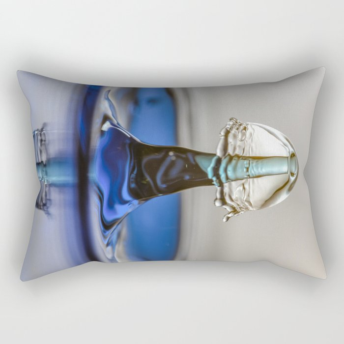 Blue liquid mushroom 5994 Rectangular Pillow