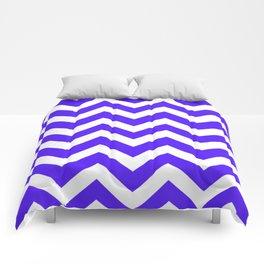 Han purple - blue color - Zigzag Chevron Pattern Comforters