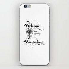 Alice In Wonderland Welcome To Wonderland iPhone Skin