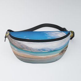 Unspoiled alpine scenery at Kinloch Wharf, New Zealand Fanny Pack