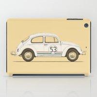 vw iPad Cases featuring Famous Car #4 - VW Beetle by Florent Bodart / Speakerine