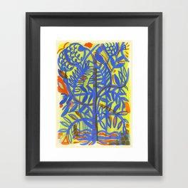 neon botanical Framed Art Print
