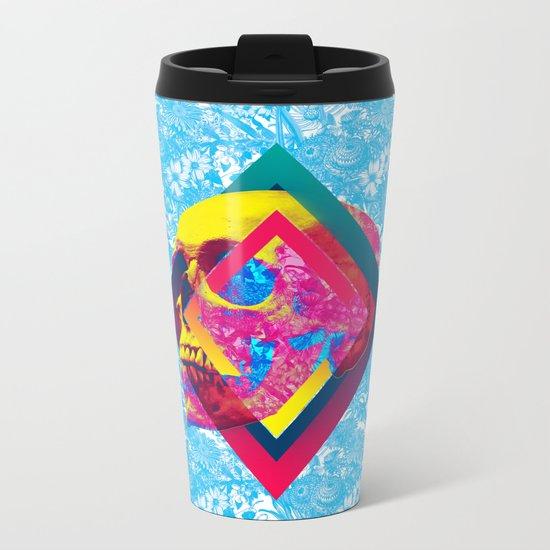 Lifeful Skull Metal Travel Mug