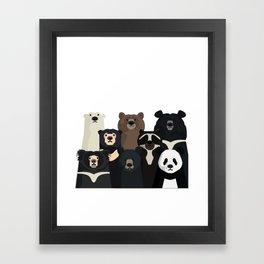 Bear family portrait Framed Art Print