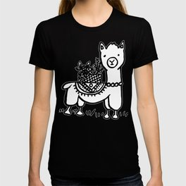 Hand  drawn llamas T-shirt