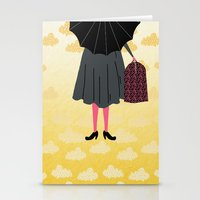mary poppins Stationery Cards featuring Mary Poppins by Prelude Posters