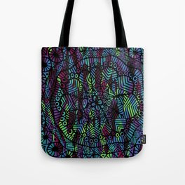 Purple and Green Doodle 14 Tote Bag
