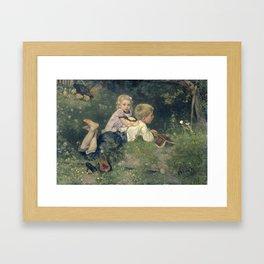 The Butterflies - August Allebé (1871) Framed Art Print