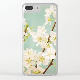 Magnolia Spring Flowers Clear iPhone Case