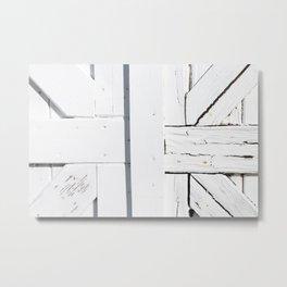Art Deco White Wooden Gate Metal Print