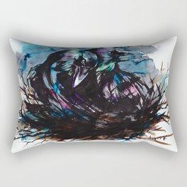 Two Ravens Rectangular Pillow