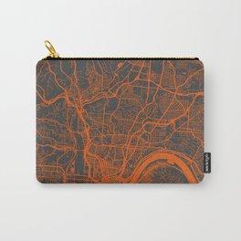 Cincinnati map orange Carry-All Pouch