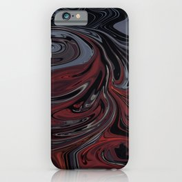 Grey & Red Abstract Painting iPhone Case