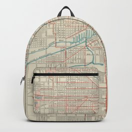 Vintage Chicago Railroad Map (1893) Backpack