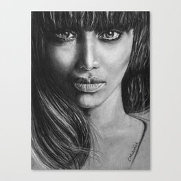Tyra Banks portrait Canvas Print