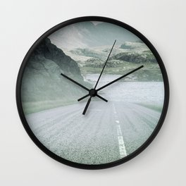 The Road and the Mountains Wall Clock