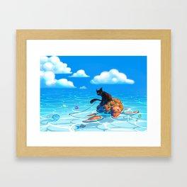 A hot summers day Framed Art Print