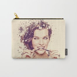 Milla Jovovich splatter painting Carry-All Pouch