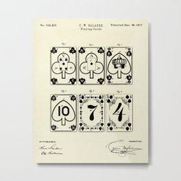 Playing Cards-1877 Metal Print