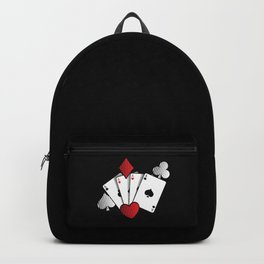 Poker Cards | Casino Gamble Ace Gift Idea Backpack