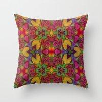 escher Throw Pillows featuring Escher Tile by RingWaveArt