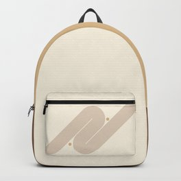Geometric Lines in Neutral Colors 8 Backpack